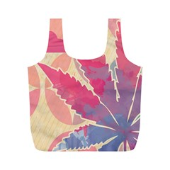Marijuana Heart Cannabis Rainbow Pink Cloud Full Print Recycle Bags (m)
