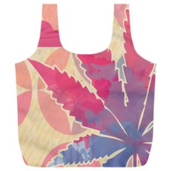 Marijuana Heart Cannabis Rainbow Pink Cloud Full Print Recycle Bags (l)