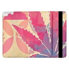 Marijuana Heart Cannabis Rainbow Pink Cloud Samsung Galaxy Tab Pro 12 2  Flip Case