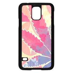 Marijuana Heart Cannabis Rainbow Pink Cloud Samsung Galaxy S5 Case (black)