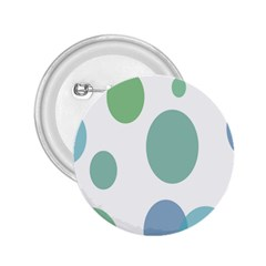 Polka Dots Blue Green White 2 25  Buttons
