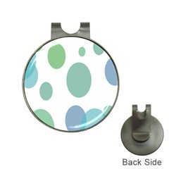 Polka Dots Blue Green White Hat Clips With Golf Markers