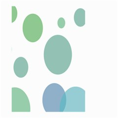 Polka Dots Blue Green White Small Garden Flag (two Sides)