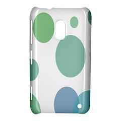Polka Dots Blue Green White Nokia Lumia 620