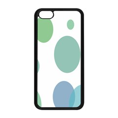 Polka Dots Blue Green White Apple Iphone 5c Seamless Case (black)