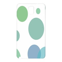 Polka Dots Blue Green White Samsung Galaxy Note 3 N9005 Hardshell Back Case