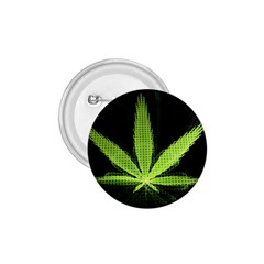 Marijuana Weed Drugs Neon Green Black Light 1 75  Buttons