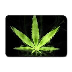 Marijuana Weed Drugs Neon Green Black Light Small Doormat