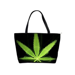 Marijuana Weed Drugs Neon Green Black Light Shoulder Handbags