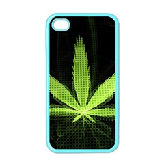 Marijuana Weed Drugs Neon Green Black Light Apple Iphone 4 Case (color)