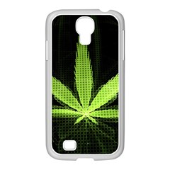 Marijuana Weed Drugs Neon Green Black Light Samsung Galaxy S4 I9500/ I9505 Case (white)
