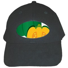 Pumpkin Peppers Green Yellow Black Cap