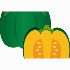 Pumpkin Peppers Green Yellow Canvas 24  X 36