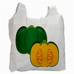 Pumpkin Peppers Green Yellow Recycle Bag (two Side)
