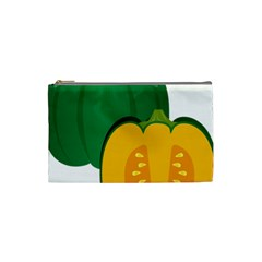 Pumpkin Peppers Green Yellow Cosmetic Bag (small)