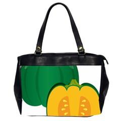 Pumpkin Peppers Green Yellow Office Handbags (2 Sides)