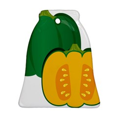 Pumpkin Peppers Green Yellow Ornament (bell)