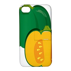 Pumpkin Peppers Green Yellow Apple Iphone 4/4s Hardshell Case With Stand