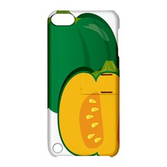 Pumpkin Peppers Green Yellow Apple Ipod Touch 5 Hardshell Case With Stand