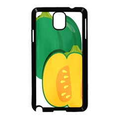 Pumpkin Peppers Green Yellow Samsung Galaxy Note 3 Neo Hardshell Case (black)