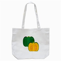Pumpkin Peppers Green Yellow Tote Bag (white)