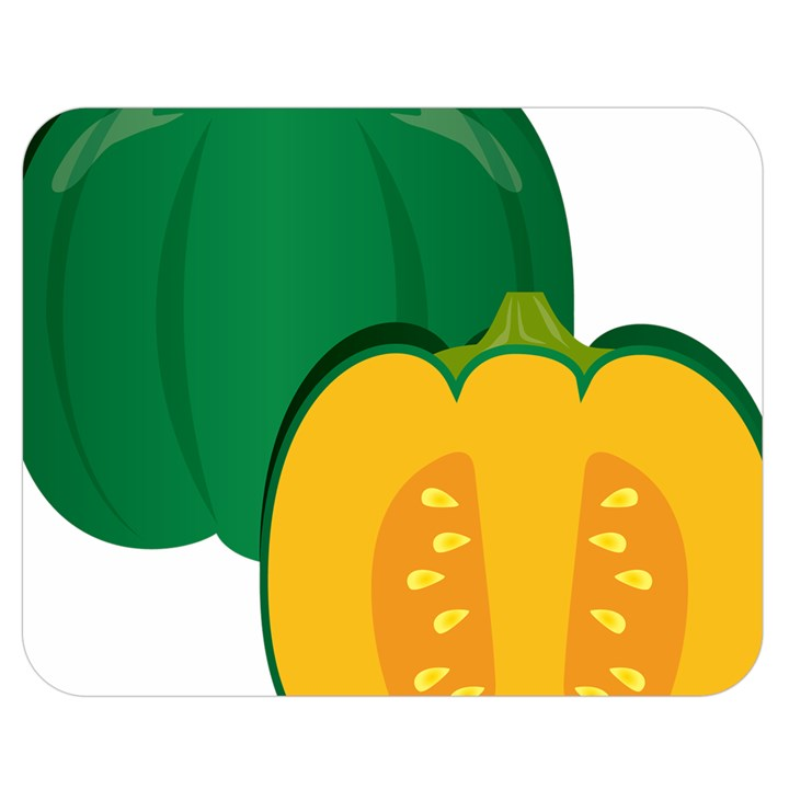 Pumpkin Peppers Green Yellow Double Sided Flano Blanket (Medium)