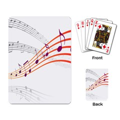 Musical Net Purpel Orange Note Playing Card