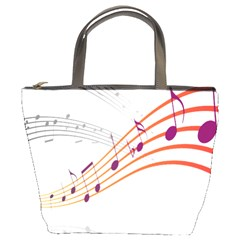 Musical Net Purpel Orange Note Bucket Bags