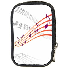 Musical Net Purpel Orange Note Compact Camera Cases