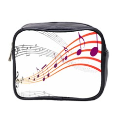 Musical Net Purpel Orange Note Mini Toiletries Bag 2 Side