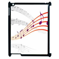 Musical Net Purpel Orange Note Apple Ipad 2 Case (black)