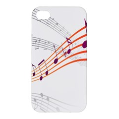 Musical Net Purpel Orange Note Apple Iphone 4/4s Hardshell Case