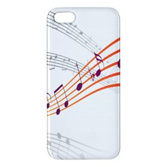 Musical Net Purpel Orange Note Apple Iphone 5 Premium Hardshell Case
