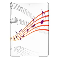 Musical Net Purpel Orange Note Ipad Air Hardshell Cases