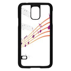 Musical Net Purpel Orange Note Samsung Galaxy S5 Case (black)