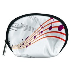 Musical Net Purpel Orange Note Accessory Pouches (medium)