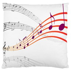 Musical Net Purpel Orange Note Standard Flano Cushion Case (two Sides)