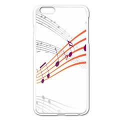 Musical Net Purpel Orange Note Apple Iphone 6 Plus/6s Plus Enamel White Case