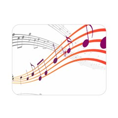 Musical Net Purpel Orange Note Double Sided Flano Blanket (mini)