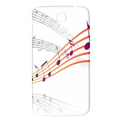 Musical Net Purpel Orange Note Samsung Galaxy Mega I9200 Hardshell Back Case