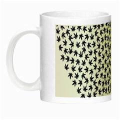 Marijuana Heart Cannabis Black Love Night Luminous Mugs