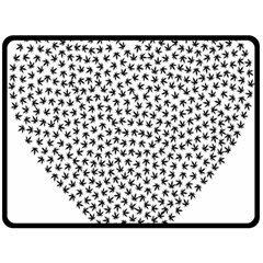 Marijuana Heart Cannabis Black Love Double Sided Fleece Blanket (large)