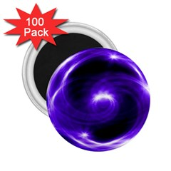 Purple Black Star Neon Light Space Galaxy 2 25  Magnets (100 Pack)