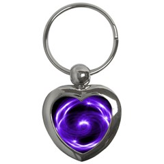 Purple Black Star Neon Light Space Galaxy Key Chains (heart)