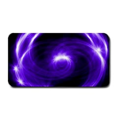 Purple Black Star Neon Light Space Galaxy Medium Bar Mats