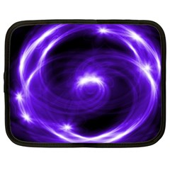 Purple Black Star Neon Light Space Galaxy Netbook Case (xxl)