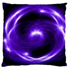 Purple Black Star Neon Light Space Galaxy Large Cushion Case (one Side)