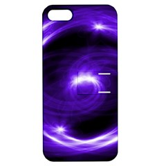Purple Black Star Neon Light Space Galaxy Apple Iphone 5 Hardshell Case With Stand