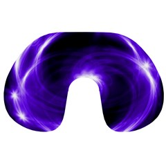 Purple Black Star Neon Light Space Galaxy Travel Neck Pillows