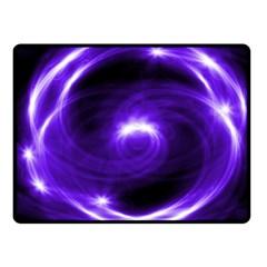 Purple Black Star Neon Light Space Galaxy Double Sided Fleece Blanket (small)